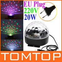 Wholesale Mini Voice activated LED RGB Crystal Magic Ball Effect Light Disco DJ Stage Lighting EU Plug H8384EU