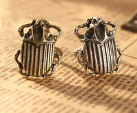 beetles insects - 2 Colors Bronze Silver Punk Style Beetle Insect Ring