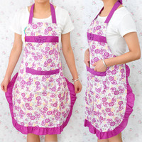 Wholesale Fashion Cotton Aprons Halter neck Type Anti oil Breathable Apron Kitchen Apron