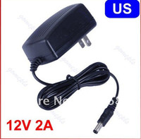 Wholesale AC V To DC V A Power Supply Converter Adapter for Led Lights Strips US plug