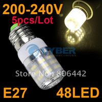 Wholesale New E27 SMD3528 LED Light Bulb Lamp Warm White V