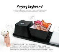 Wholesale Creative gift present Novelty Cup x Keyboard Coffee Tea Cup Plastic button Cute sugary Mug Cup set