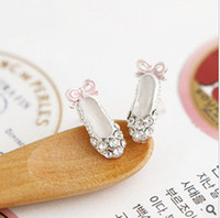 Wholesale 2pcs Charming Mini Ballet Dancing Shoes Stud Earrings Cosplay Party Jewelry Earrings