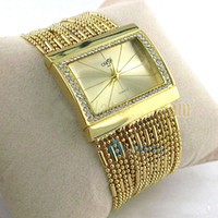 Wholesale Women s Diamond Bracelet Style Wrist Watch Gold