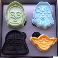 Wholesale New SET D Cookie Cutter Star Wars Set Pie Crust Cutter