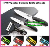 Black color knife set - inch inch peeler Ceramic Knife gift sets with color box fruit knife re