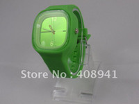 Modern Unisex Round DHL EMS Free Shipping+New 100% silicone jelly watch with japan movement,50pcs Lot