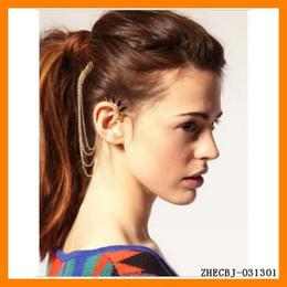 Ear Cuff Newest Fashion Ear Cuffs Ear Studs with Chain Hair Combs Drop Shipping 1pc ZHECBJ-031301