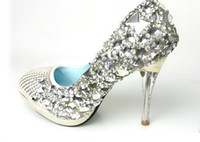 picture color PU Rhinestone A8 Sparkling Diamond Crystals High Heels Prom Evening Party Lady Bridal Wedding Shoes EU size34-39