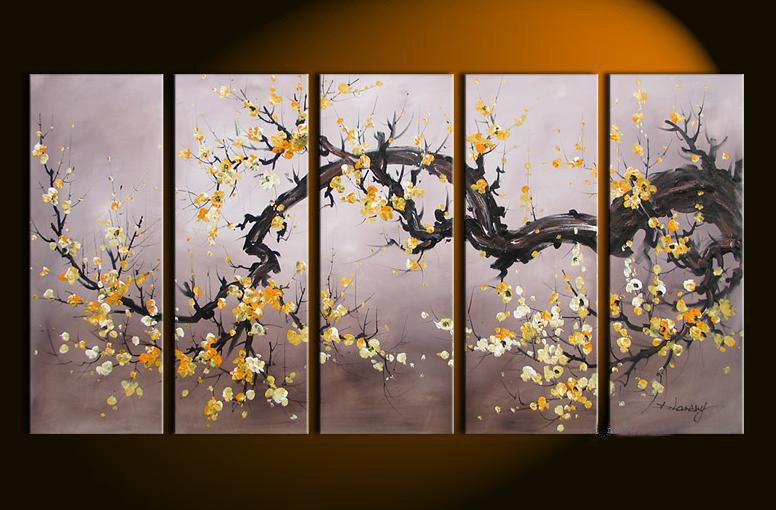 hand painted oil wall art Golden yellow flower decoration Abstract  Landscape Framed oil painting on. 2017 Hand Painted Oil Wall Art Golden Yellow Flower Decoration