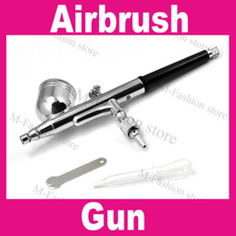 Wholesale AB827 mm Dual Action Airbrush Gun Spray Nail Art Paint New