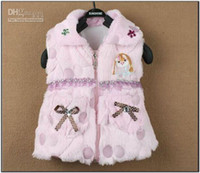 Wholesale Children s Winter upper outwear baby sleeveless thick solid coat girl s warm vest jacket waistcoat
