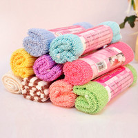 Wholesale Retail Small roll vertical stripes super absorbent bamboo charcoal fiber towel ZM