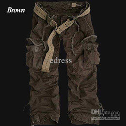 Wholesale men s outdoor designer leisure cotton washed cargo combat camouflage pants trouse