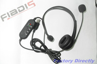 Wholesale 50pcs USB Headset headphone headset NEWEST and CHEAPEST drive free DHL