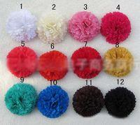 Hairband silk flower hair clip - Fashion Child Hairband Baby Hair Accessories Girls Hair Clips Kids Hair Flowers Children Headwear