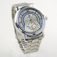 Wholesale New Men s Stainless steel Mechanical Watch Armbanduhr Analog Wrist Watch