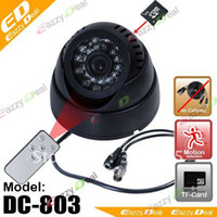 Wholesale Hot sell remote control Day Night daysx24hrs digital Video Recorder CCTV Camera DVR With AV OUT
