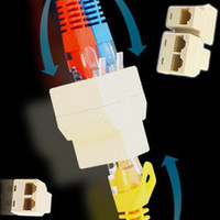 Wholesale RJ45 P8C Y splitter Female Network Coupler Adapter to Female Female Spliter good