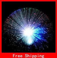 Wholesale Christmas Party Decoration Fiber Optic Flash Flower Colour Flashing Colorful Flower