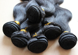 Wholesale 12 quot quot Brazilian Human Hair Extension Weave Bodywave Hair Weft Color1b Off Black Retail