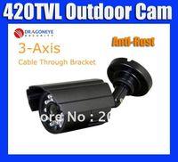 CMOS axis cctv camera - 420TVL CCTV Camera with IR LEDs TVl Waterproof Outdoor Camera with Anti Rust Housing Axis bra