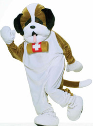 Wholesale deluxe st bernard mascot costume for adults fur halloween party dog tan cartoon