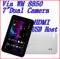 Wholesale 7 inch Tablet PC WM VIA Dual Core Cortex A9 GHz MB GB Camera Wifi Shipping Free Ainol