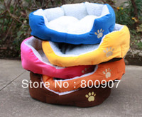 Wholesale Soft Round Warm Cozy Pet Dog Cat Bed with Mat Small Large