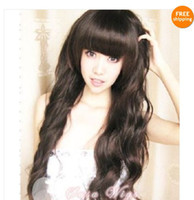 Wholesale New quot Straight Long Full Bang Cute Women Front Lace Wigs colors