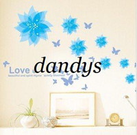 beauty graphics - new arrival cm removable beauty bloom flower wall stickers fashion tv wall sticke