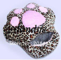 Wholesale Cute cute cat paw prints Plush USB Foot Warmer Shoes Electric Heat Slipper pink beige leopard color