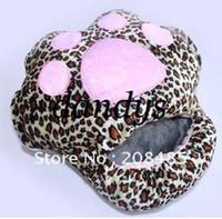 impressions mignon mignon de pattes de chat en peluche USB Pied Chaussures Warmer chauffage électrique Slipper rose / couleur beige / léopard