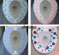 Wholesale mix color printed toilet seat cover self stick closestool mat Magic Warm Health amp Reusable Toilet Seat