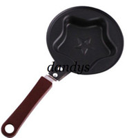Wholesale 5pcs five pointed star shape Egg Fryer Skillet Mini Fry Frying Pan Cookware Non St
