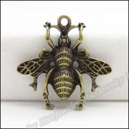 Vintage Bee Pendant Antique bronze Alloy Fit Bracelet Necklace DIY Jewelry Findings 80pcs lot