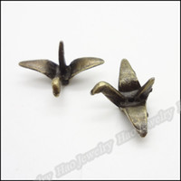 Wholesale Vintage Crane Pendant Antique bronze Alloy Fit Bracelet Necklace DIY Jewelry Findings