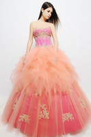 Wholesale Fashion Beautiful Sweetheart Tulle Ball Gown Short Sleeve Jacket Appliques Tulle Quinceanera Dress