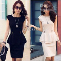 Wholesale Korea Version Summer Office Lady Suit Career Apparel Cotta Blouse Skirt Cotton Terylene S to L