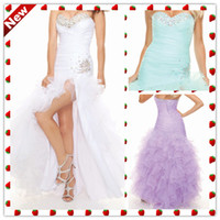 Reference Images Sweetheart Organza Hot White Aqua Lavender Sweetheart Crystal Pleated Long Sexy Organza Prom Dresses Party Dress Gowns