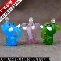 Wholesale Murano Glass Charms Cellphone Straps Pucca Animal Lampwork Glass Charm