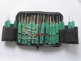 Wholesale 32 Pieces Locksmith tools KLom Lock Pick Tools Set broken key tools Lock Pick Set Lock Opener O217