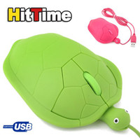 Wholesale 1Pcs USB D Optical Cute Turtle Mouse PC Laptop Comfort Hand With the retail box
