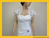 Wholesale 2015 New Arrivals White Ivory Bridal Alencon Lace Chiffon Bolero Jacket Formal Wedding Wrap Shops love_bridal
