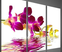 Wholesale High Quality Guaranteed Wall Art Home Decoration Hand painted Framed Flower Oil P