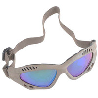 Wholesale Foam Gasket Versatile Goggles Eyeglasses Eyewear with Elastic Headband amp Colorful Reflective Lens