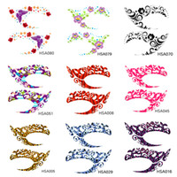 Wholesale Temporary tattoos eye stickers eyeliner stickers Temporary tattoo colorful cosmetics tattoo