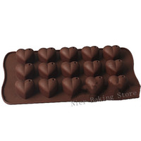 Wholesale Re usable Silicone cake mold muffin cupcake Heart shaped chocolate mold cake decoration Soap mold
