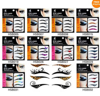 Wholesale New Pretty Style Temporary Eyes Stickers Tattoos Transferable Eyeshadow Eyeliner