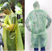 Wholesale Disposable Adult Emergency Waterproof Raincoat Hood Poncho Camping